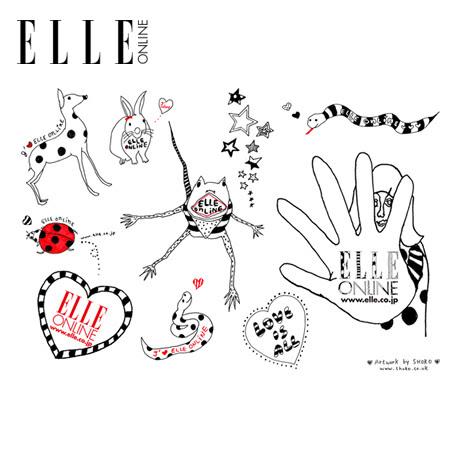 ELLE ONLINE, sticker artwork, 2008