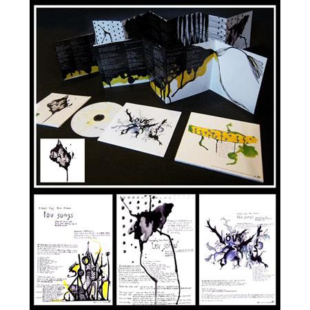 "hideki kaji ""Lov songs"" CD Jacket artwork, 2004"